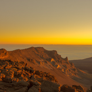 Mount Haleakala right at Sunrise
