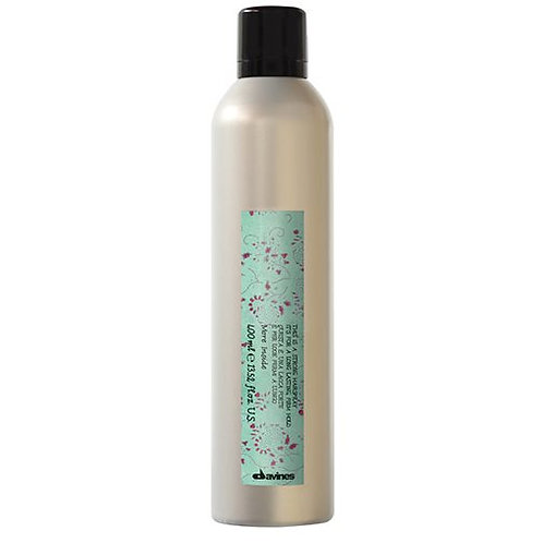 This is a strong hairspray