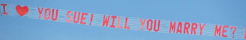 Letter banner, advertising, aerial, air