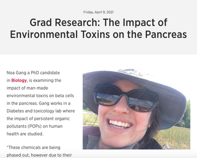 Noa's research featured by Carleton Grad Studies