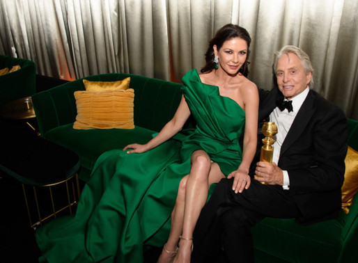 Catherine Zeta-Jones stuns in an emerald gown by Elie Saab at 2019 Golden Globes