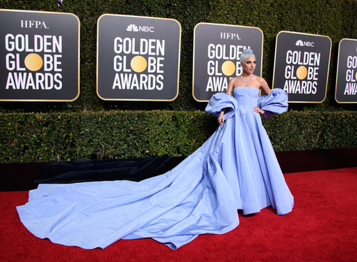 Lady Gaga Startled in Valentino Couture at 2019 Golden Globes