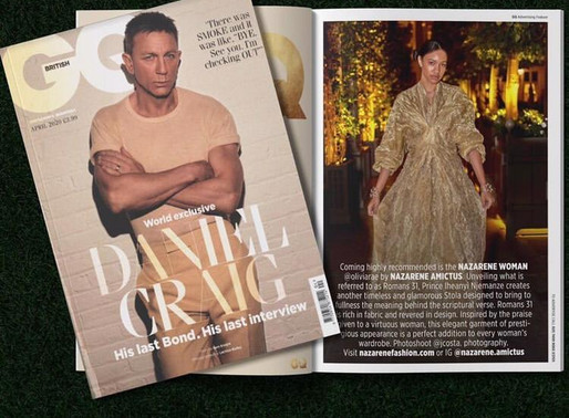 "Thailand Fashion Week Designer Iheanyi Njemanze Brand ""Nazarene Amictus"" on GQ Magazine"