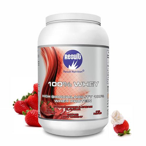 100% Whey - Strawberries & Cream - .907 kg - £1 to £24.99