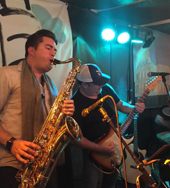 Chris Cali and Grammy Award winning Sax Player, Dr. Aaron Lington!