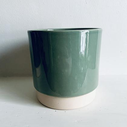 Sage Green Stoneware Pot