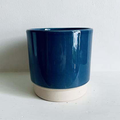 Royal Blue Stoneware Pot