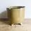 Thumbnail: Yellow Stoneware Pot With Feet