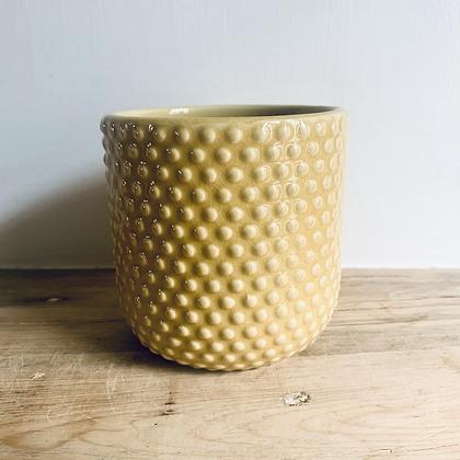 Yellow Polka Dot Pot