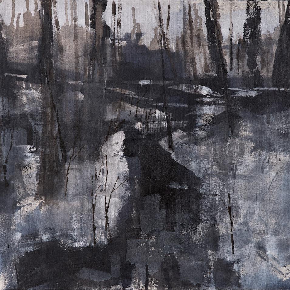 'Danscape' Acrylic on Canvas, 55x75 cm