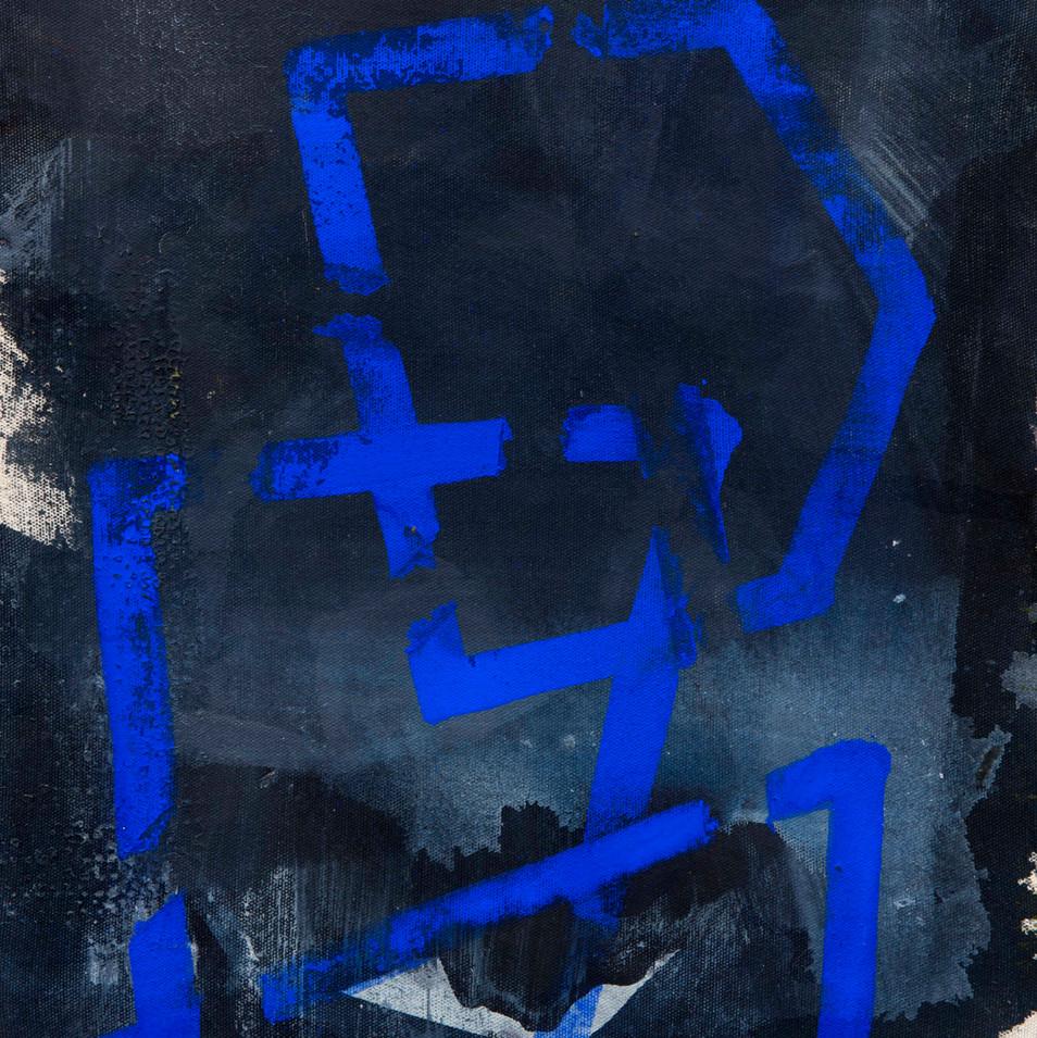'Line Series' Mix Media on Pressed Canvas, 35x30 cm