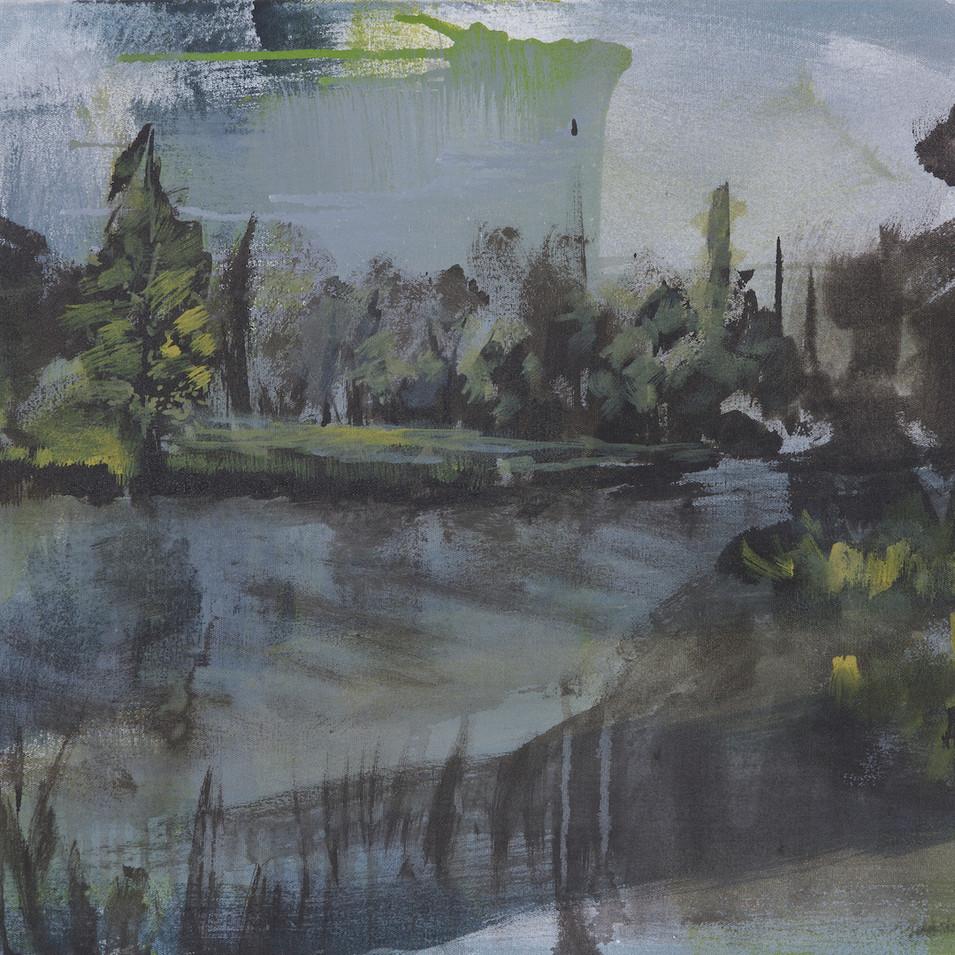 'Park' Acrylic on Canvas, 55x75 cm