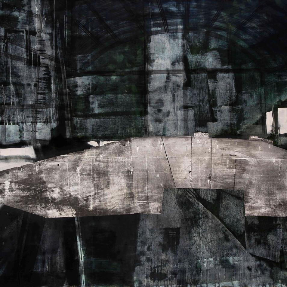 'Arena Series' Mix Media on Canvas, 145x