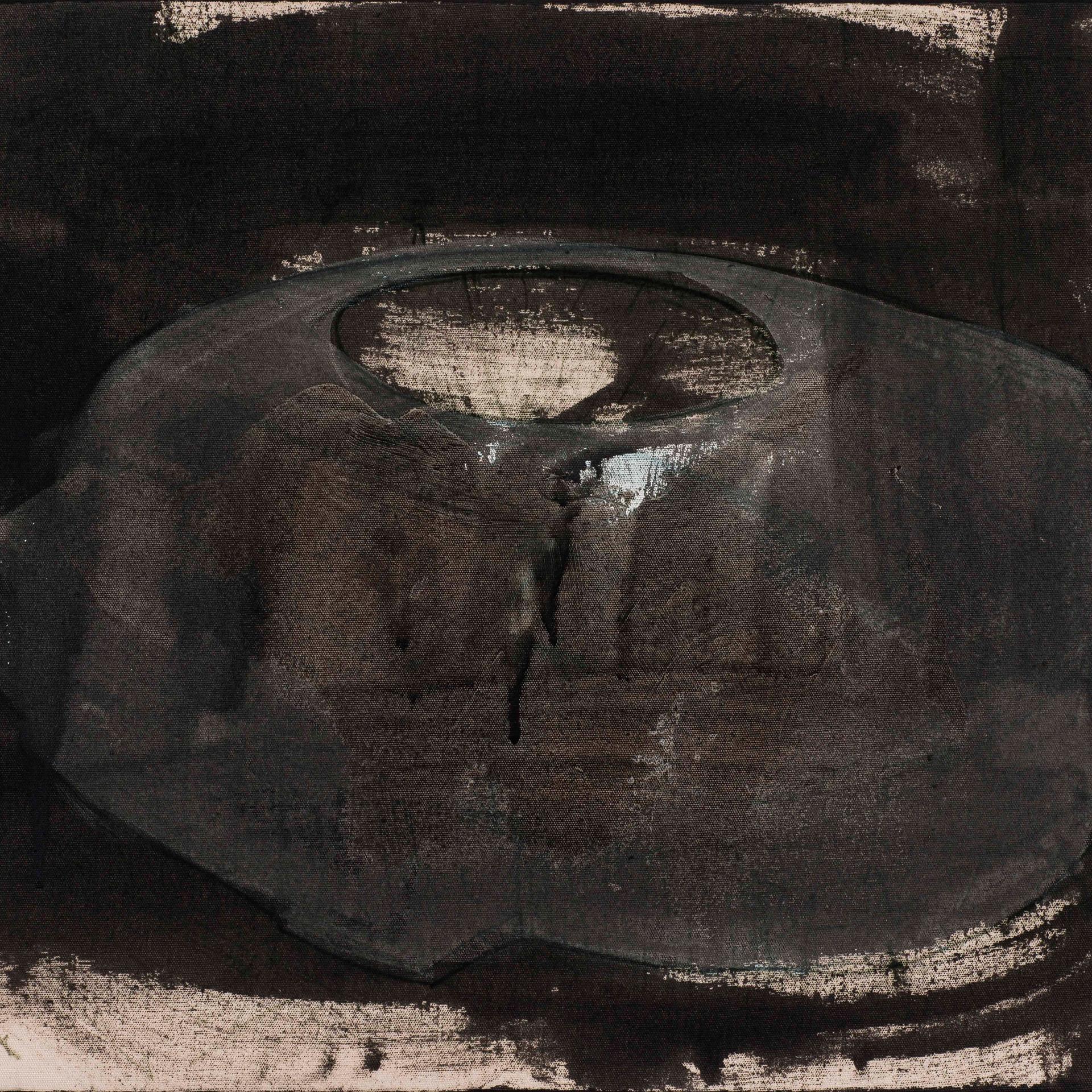 'Hole Series' Acrylic on Canvas, 47x55 cm