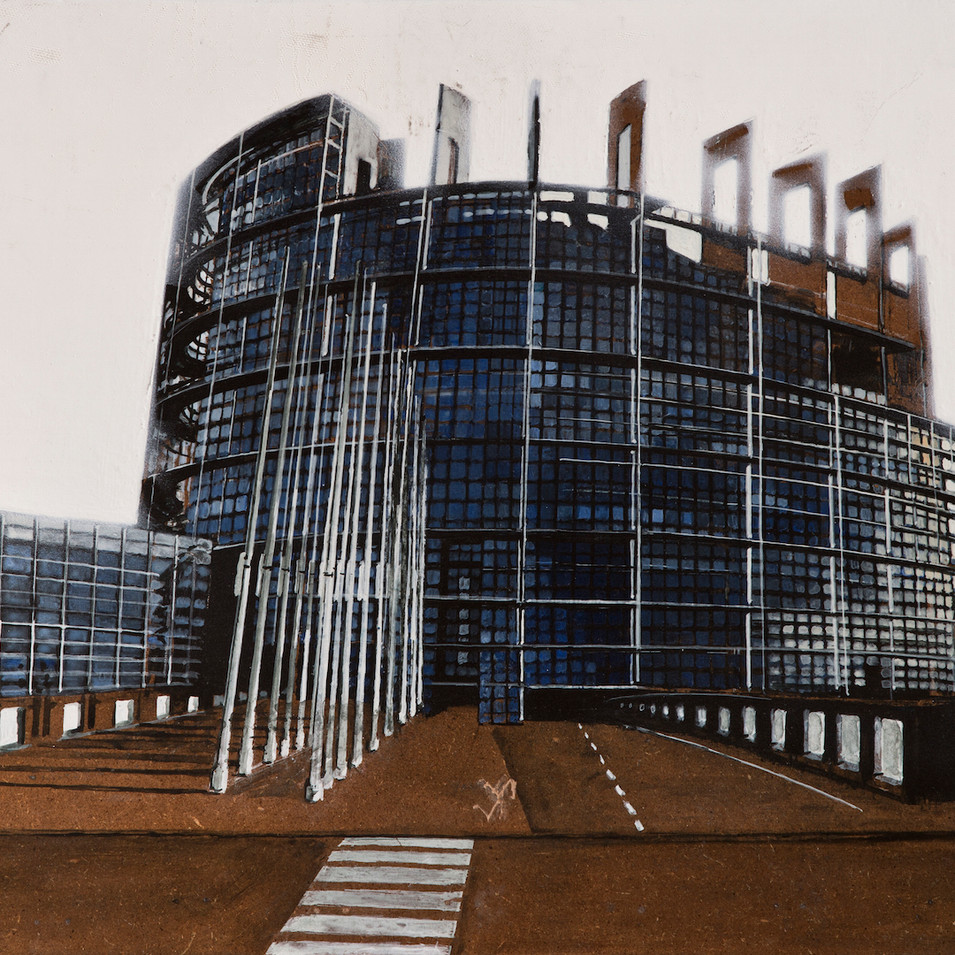 'Parliament' Acrylic on Board, 39x47 cm