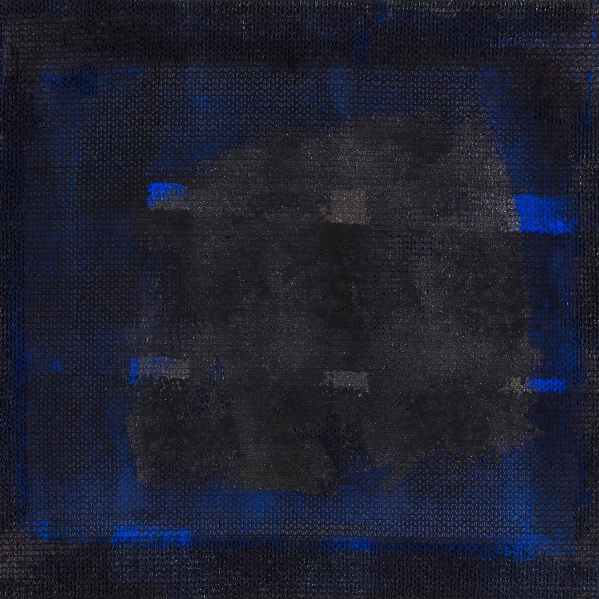 'Distortion Series' Acrylic on Jute Sack, 47x55 cm