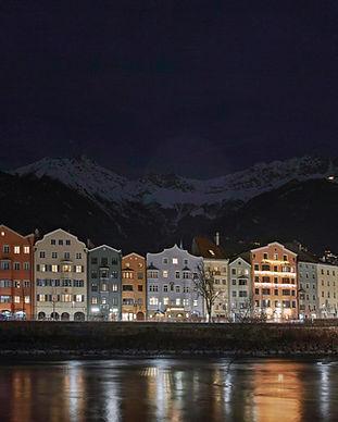 Innsbruck at night. Photo from Unsplash.