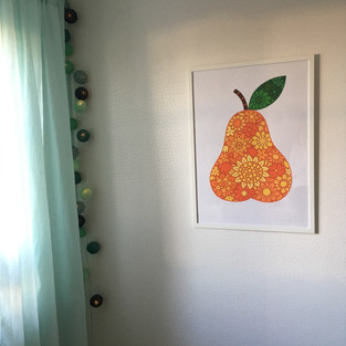 Blossom päronposter