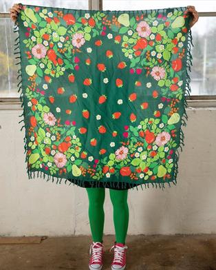 Selmas trädgård shawl