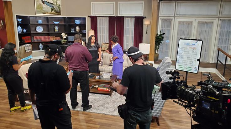 On set with director Derrick Doose