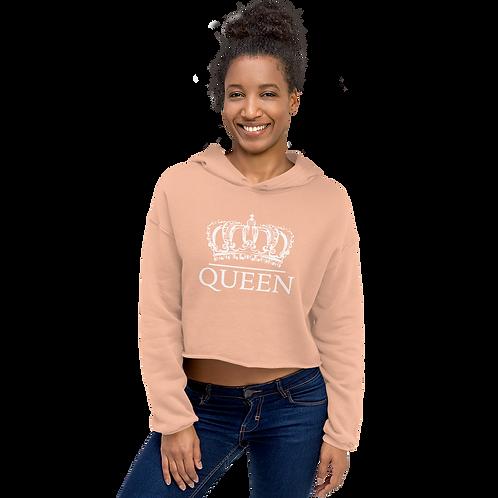 Crowned Queen Crop Hoodie