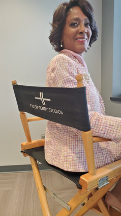 Alretha Thomas at Tyler Perry Studios