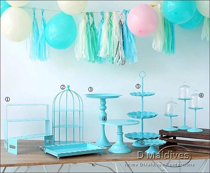 Cake Props Rental - Tiffany Blue