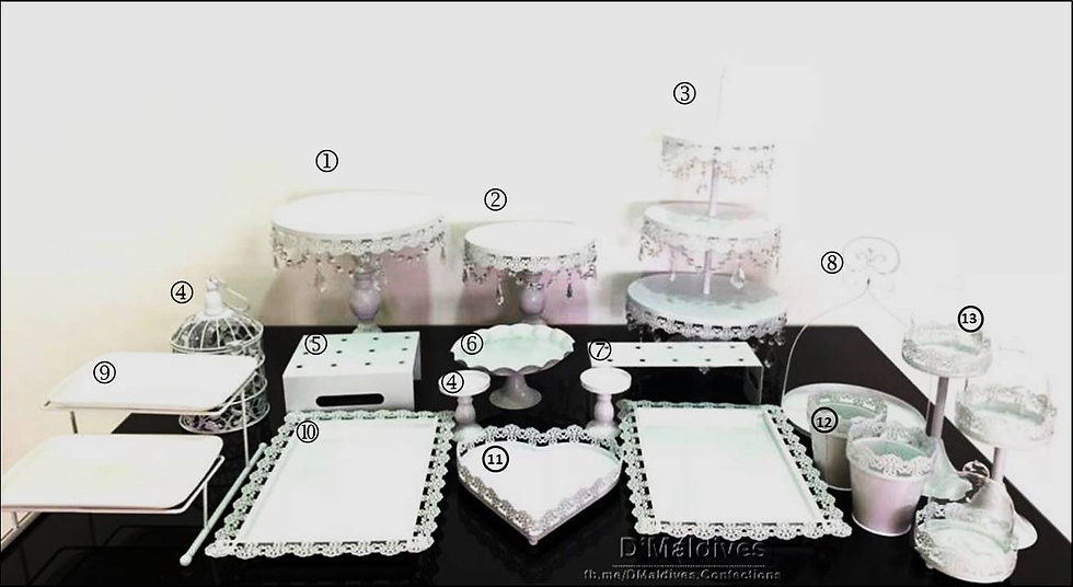 Cake Props Rental - White