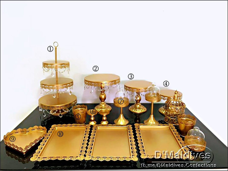 Cake Props Rental - Gold