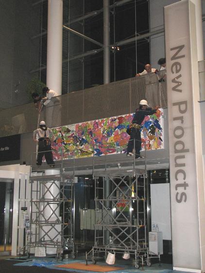 Art Grove in Panasonic Center TOKYO展示作業