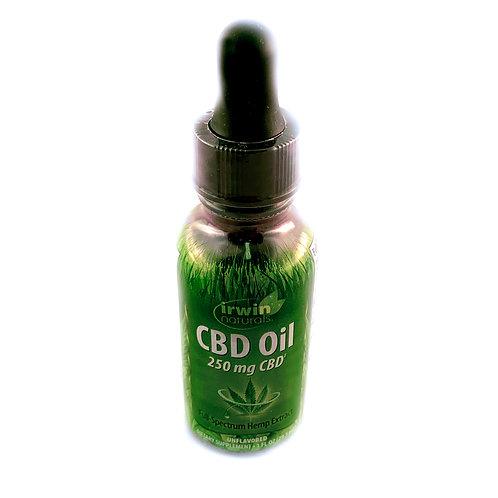 Irwin Naturals CBD 250mg Oil 1FL Oz