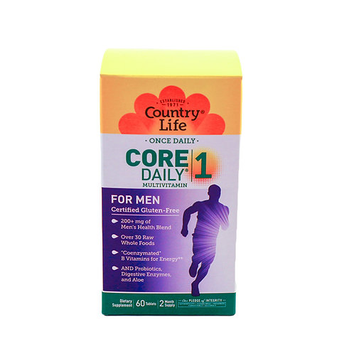 Core One Daily Multi-vitamin for Men By Country Life