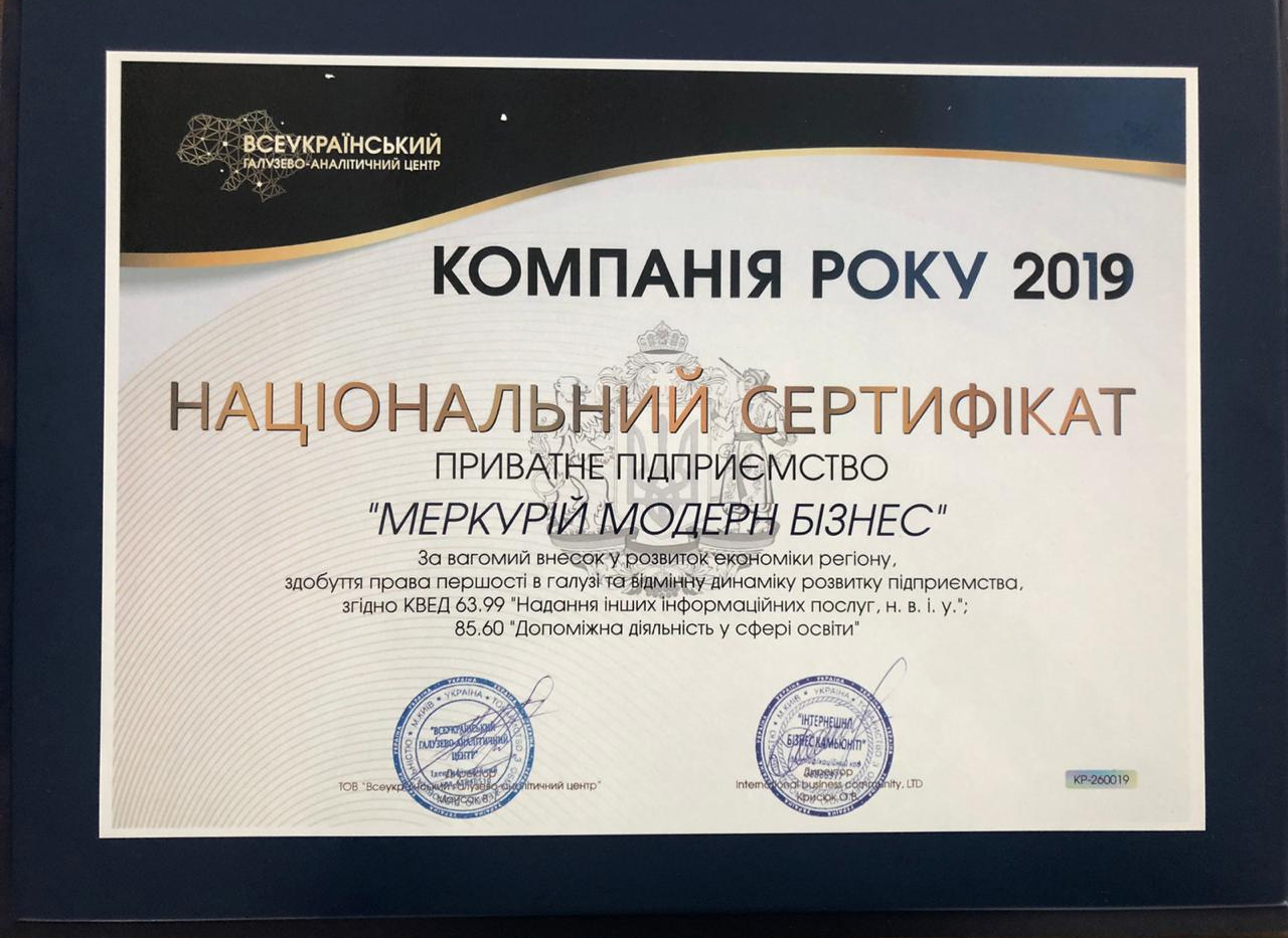 Company of the year 2019