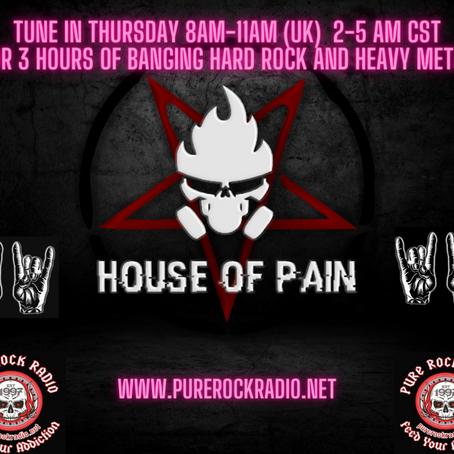 The House of Pain Radio Show Thursday 23 Nov
