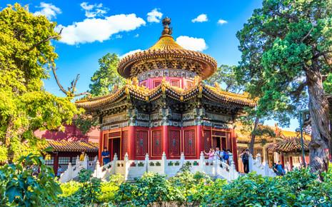 Temple in the Emperors Garden _ Forbidden City, Beijing, China