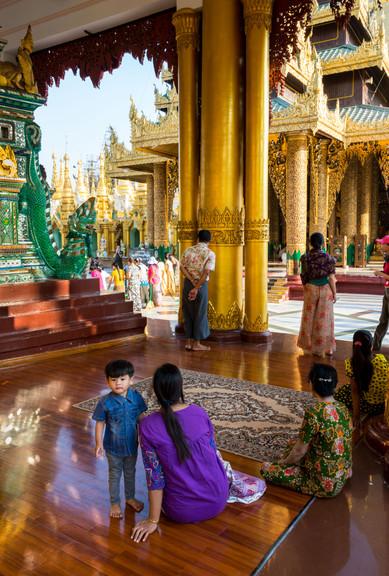 Inside the Shwedagon Pagoda - Yangon, Myanmar