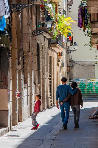 Homage to Henri Cartier Bresson Barcelona, Catalonia, Spain,