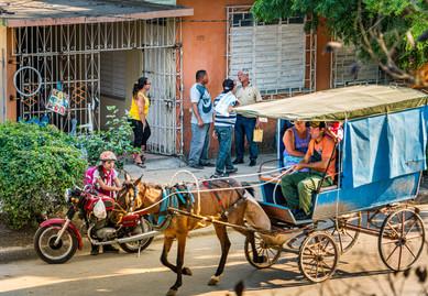 A Typical Cuban Street Scene - Holguin, Cuba