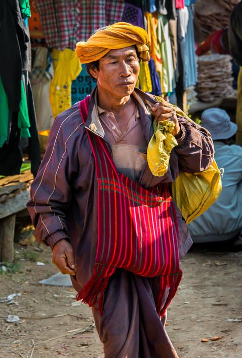 Hill Tribesman - Inle Lake, Myanmar