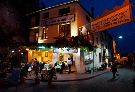 Night Cafe in Sultanahmet - Istanbul, Turkey