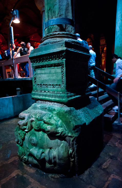 Reusing Ancient Architectural Details - Byzantine Cistern, Istanbul, Turkey