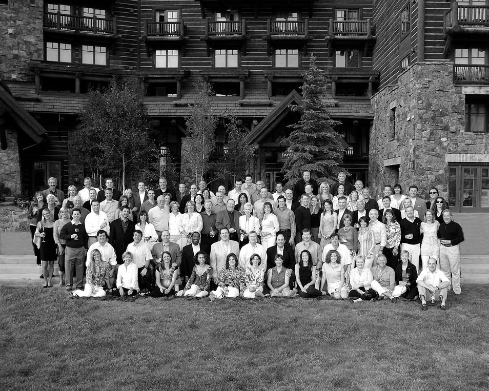 Black and White Group Photo Ritz Carlton Bachelor Gulch