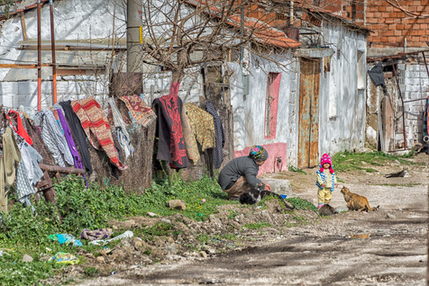 Wash Day in the Village of Bergama - Begama, Turkey