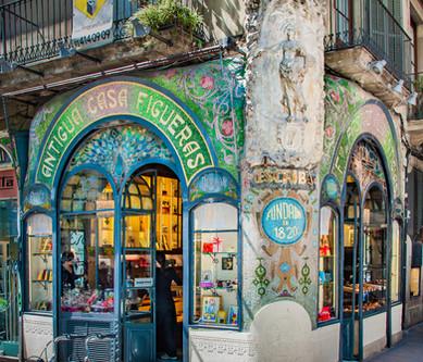 The Antigua Casa Figueros in Barcelona, Spain
