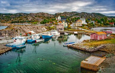Boats on a Bay - Brigus, Newfoundland