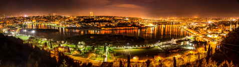 Golden Horn at Night Panorama - Istanbul, Turkey