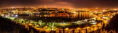 Golden Horn at Night Panorama - Istanbul, Turkey