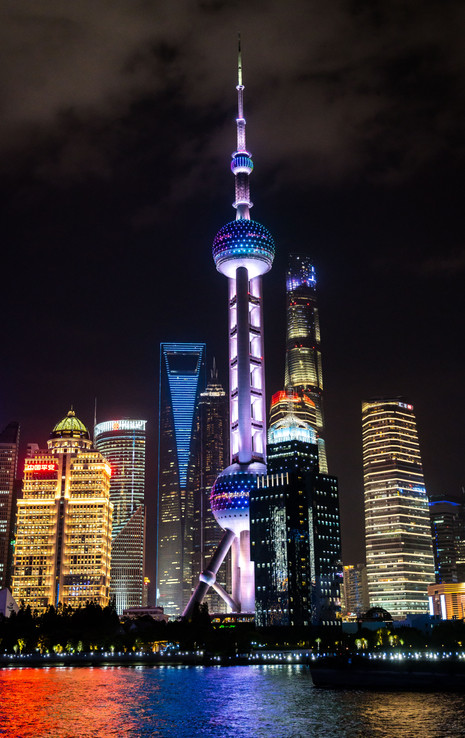 Night Time On the Pudong River - Shanghai, China