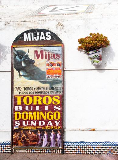 Mijas Bull Fight Poster - Mijas, Andalusia, Spain
