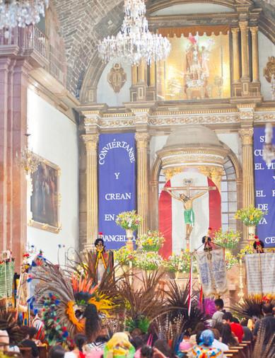 Inside the Parroquia - San Miguel de Allende, Mexico